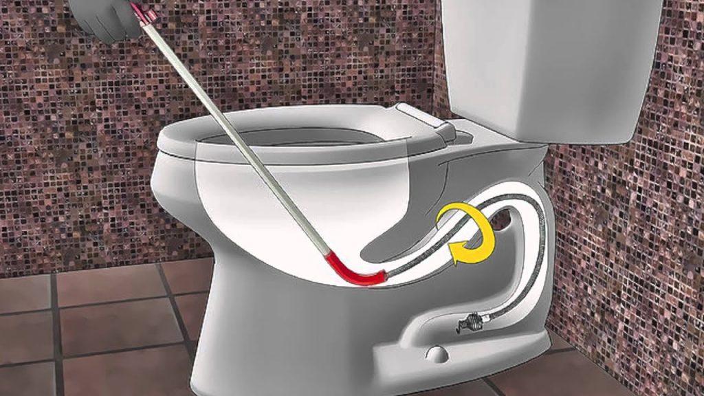 Barrena manual para destapar baños