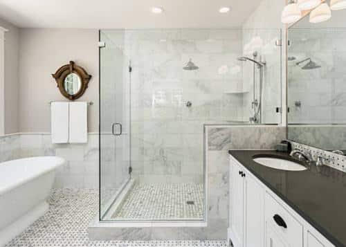 Medidas de azulejo: Piso de ducha